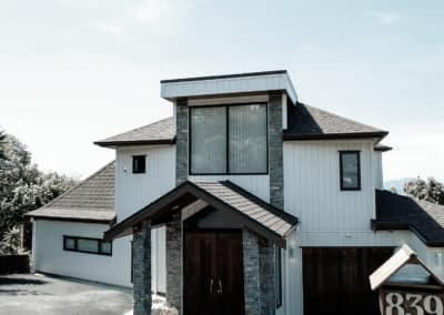 Re-cladding of house, Beach Road