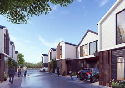 New terraced house development Fire Engineering, Akoranga Drive